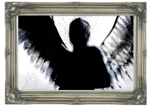 Printed-Art Mural-04661-Angel Shadow-Ethnic-Vinyl-A